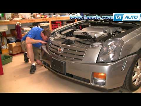 How to Change the Bulb in your 03-07 Cadillac CTS Fog, Daytime Running Signal Light 1AAuto.com