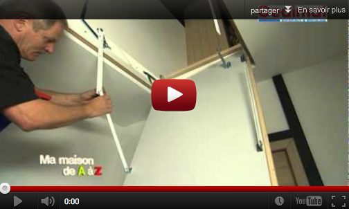 Installer un escalier escamotable mega tuto tous les for Monter un escalier escamotable