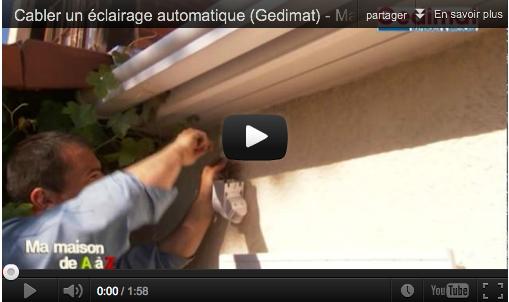 Cabler un clairage automatique gedimat ma maison de a for Eclairage automatique exterieur