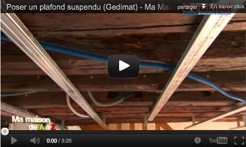Poser un plafond suspendu mega tuto tous les tutoriels for Fabriquer un plafond suspendu