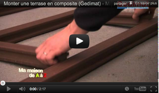 Monter une terrasse en composite mega tuto tous les - Comment monter une terrasse en composite ...