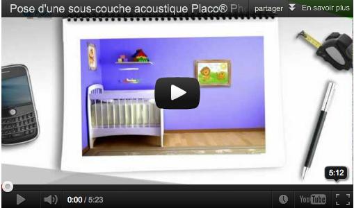 pose d 39 une sous couche acoustique mega tuto tous les. Black Bedroom Furniture Sets. Home Design Ideas