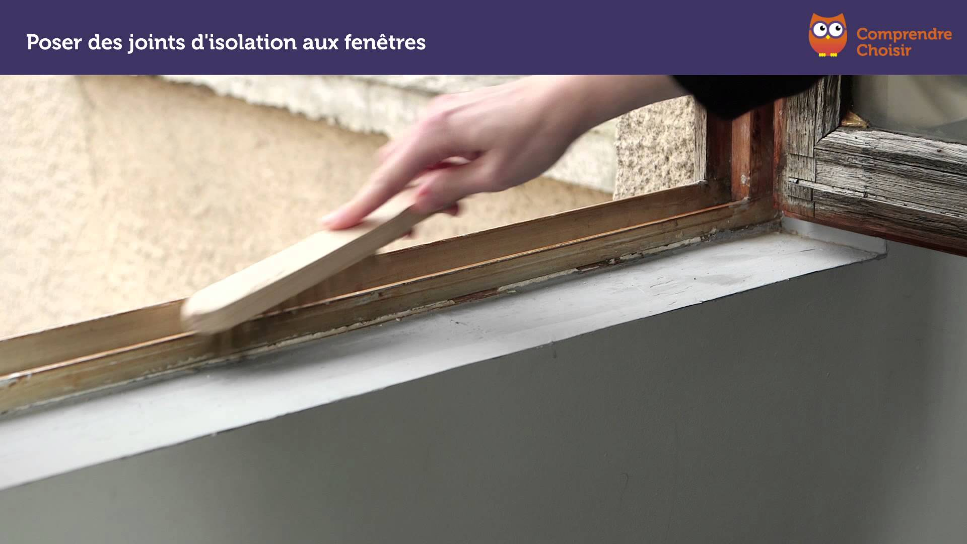 Comment poser des joints d 39 isolation de fen tre pour plus - Joint isolation fenetre ...