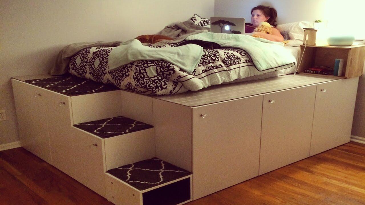 Il transformer des meubles de cuisine ikea en chambre avec for Letto rialzato ikea